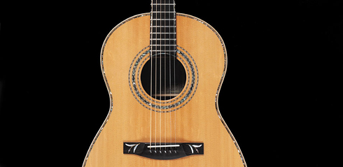 Grand Folk Finn Olafsson Signature, rosette and bridge